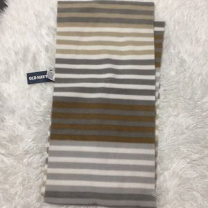 OLD NAVY | gray and tan stripe scarf